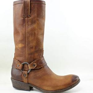 FRYE Women's Carson Harness Cognac Washed Antique Pull Up Boot