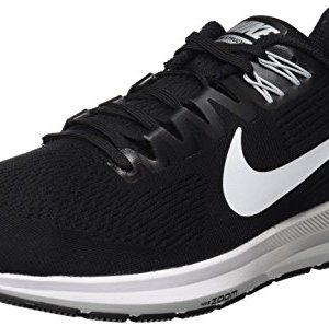 Nike Men's Air Zoom Structure 21 Running Shoe, Black/White/Wolf Grey
