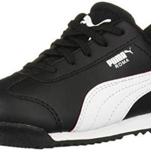 PUMA Unisex Ferrari Roma Sneaker, Black White-Rosso Corsa