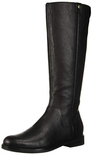 Cole Haan Women's Calissa Riding Boot Mid Calf, Black Leather