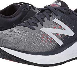 New Balance Men's Fresh Foam Running Shoe, Gunmetal/Outerspace/Energy red