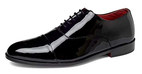 Carlos by Carlos Santana Men's Cap-Toe Tuxedo Oxford Dress Shoes