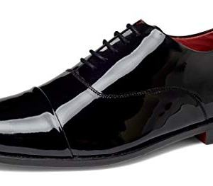 Carlos by Carlos Santana Men's Cap-Toe Tuxedo Oxford Dress Shoes