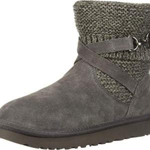 UGG Women's W Purl Strap Boot Fashion, charcoal