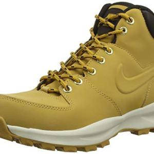 NIKE Men's Manoa Leather Boot, Haystack/Haystack/Velvet Brown