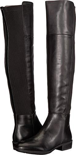 Sam Edelman Pam Black Leather Modena Calf Leather/Ribbed