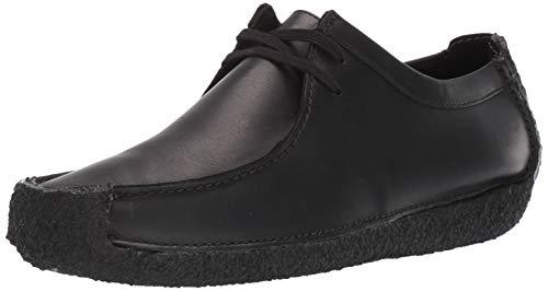 CLARKS Men's Natalie Moccasin, Black Leather