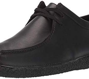 CLARKS Men's Natalie Moccasin, Black Leather
