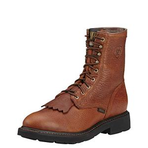 "ARIAT Men's Cascade 8"" Work Boot Sunshine Wildcat"