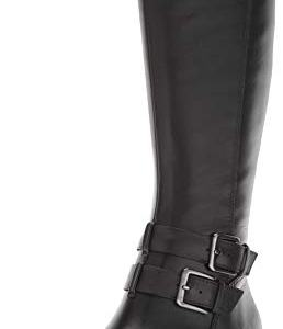 Naturalizer Women's Dale Knee High Boot, Black Wp Leather