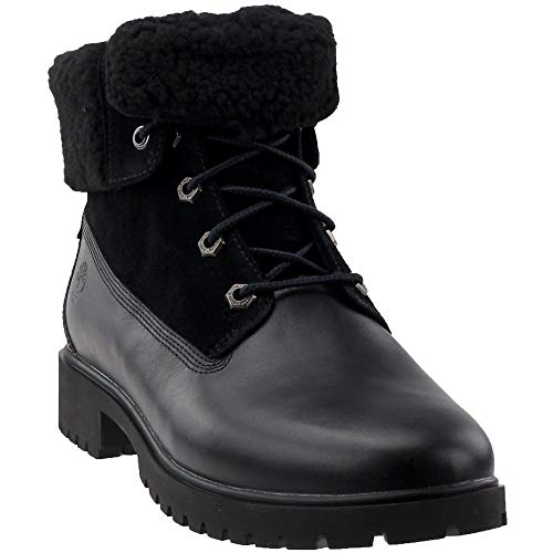 Timberland Women's Jayne Waterproof Teddy Fleece Fold Down Fashion Boot