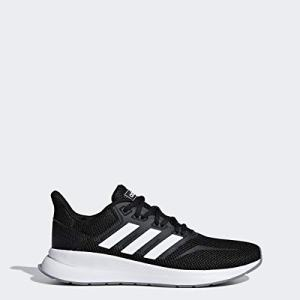 adidas Women's Falcon Running Shoe, Black/White/Grey