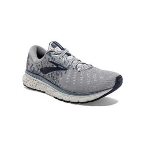 Brooks Mens Glycerin Running Shoe - Grey/Navy/White