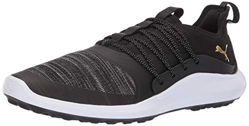 PUMA Golf Men's Ignite Nxt Solelace Golf Shoe, Black Team Gold