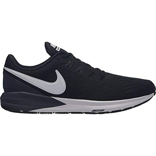 Nike Men's Air Zoom Structure 22 Running Shoe Black/White/Gridiron