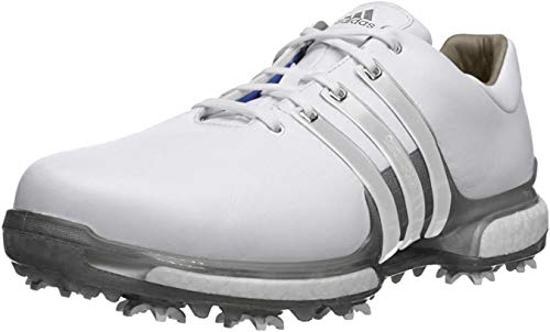 adidas Men's 2.0 WD Golf-Shoes, Ftwr White/Ftwr White/Trace