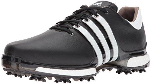 adidas Men's TOUR 2.0 Golf Shoe, Core Black/White