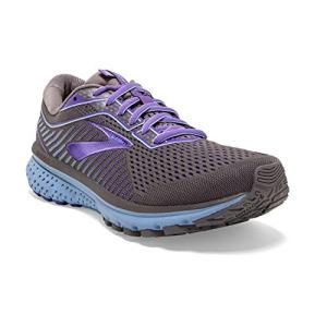 Brooks Womens Ghost 12 Running Shoe - Shark/Violet/Bel Air Blue