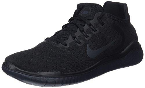 Nike Mens Free RN 2018 Running Shoes (10.5) Black/Anthracite