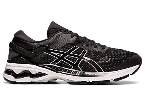 ASICS Men's Gel-Kayano Running Shoes, 9M, Black/White