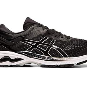 ASICS Men's Gel-Kayano Running Shoes, 9M, Black/White