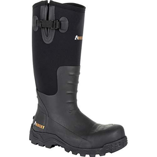 Rocky Sport Pro Steel Toe Rubber Work Boot Black