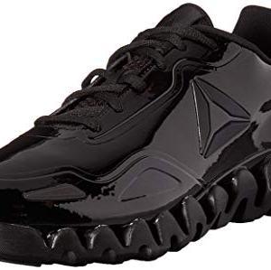 Reebok Men's Zig Pulse Running Shoe, black/black/patent