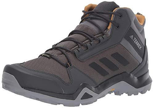 adidas outdoor Men's Terrex AX3 MID GTX Hiking Boot, Grey Five/Black/Mesa