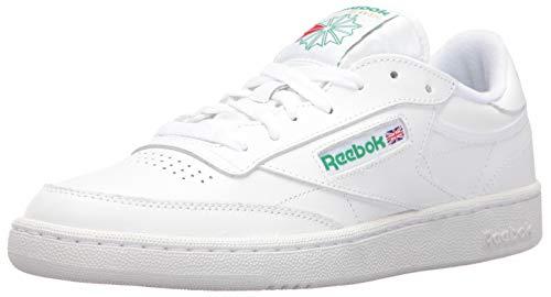 Reebok Men's Club C 85 Walking Shoe, White/Green