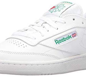 Reebok Men's Club C 85 Walking Shoe, White/Green