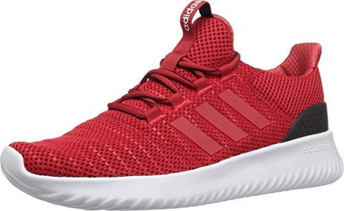 adidas Men's Cloudfoam Ultimate Running Shoe, Scarlet/Scarlet/Black