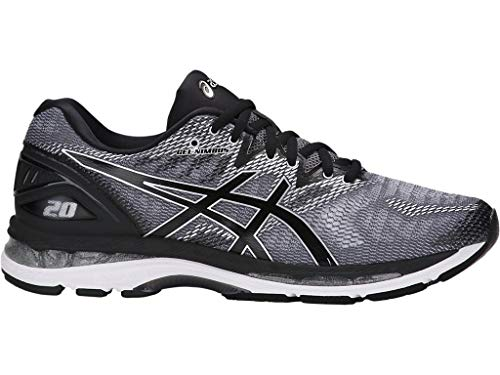 ASICS Men's Gel-Nimbus 20 Running Shoe, Carbon/Black/Silver