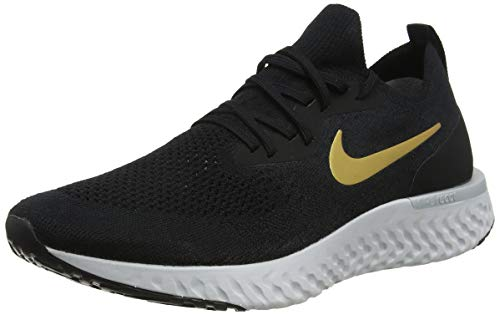 Nike Epic React Flyknit Women's Running Shoe Black/Metallic Gold-MTLC