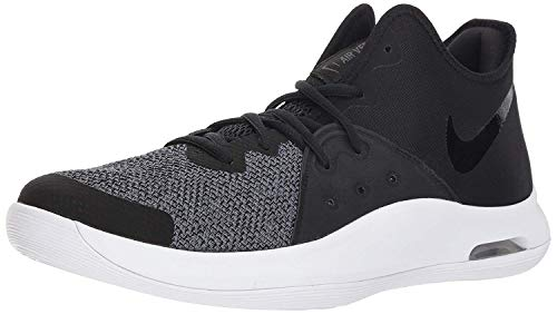 Nike Men's Air Versitile III Basketball Shoe, Black/Black - White - Dark Grey