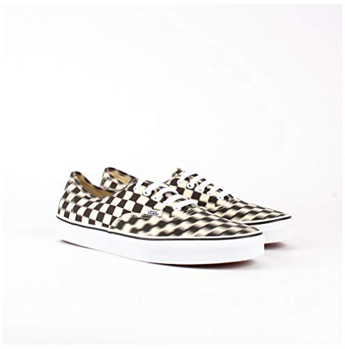 Vans Authentic Blur Check Black/Classic White Men's Skate Shoes