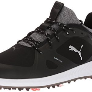 PUMA Golf Men's Ignite Pwradapt Golf Shoe, Black/Black