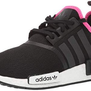 adidas Originals Men's NMD_R1 Running Shoe, Black/Black/Shock Pink