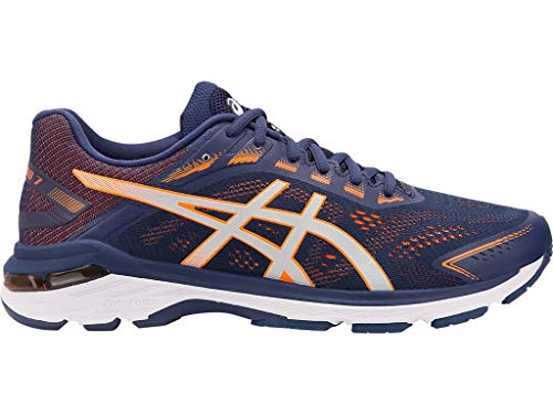 ASICS Men's Running Shoes, 11W, Indigo Blue/Shocking Orange