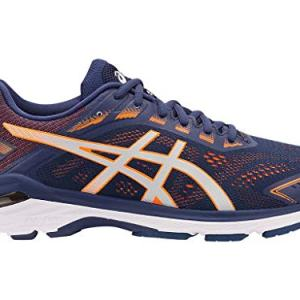 ASICS Men's Running Shoes, 11W, Indigo Blue/Shocking Orange
