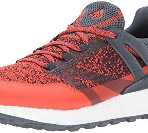 adidas Men's Crossknit Boost Golf Shoe, Blaze Orange/Bold Onix
