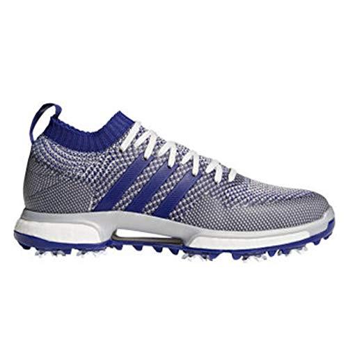 adidas Men's Knit Golf Shoe, Grey one/Real Purple FTWR White