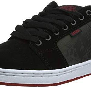 Etnies Men's Metal Mulisha Barge XL Skate Shoe, Black/White/RED