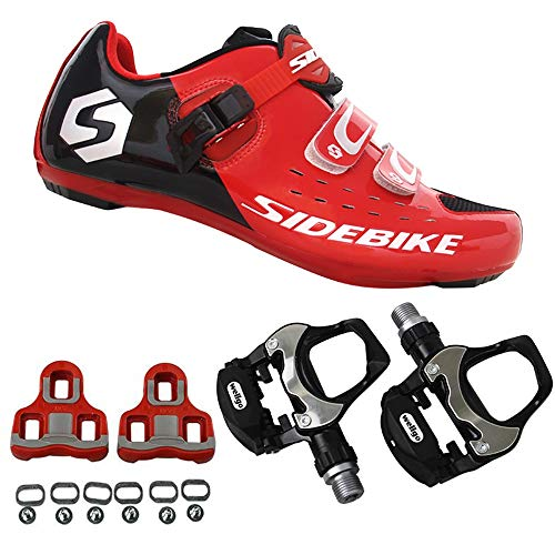 21Grams SIDEBIKE Men's Cycling Shoes,Breathable Cushioning Road Bike Shoes