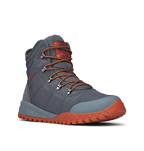 Columbia Men's Fairbanks Omni-Heat Ankle Boot, Graphite, Dark Adobe