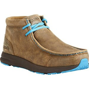 Ariat Men Spitfire Brown Bomber/Blue Laces Western