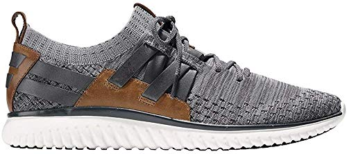 Cole Haan Men's Grand Motion Woven Stitchlite Sneaker, Magnet/Ironstone