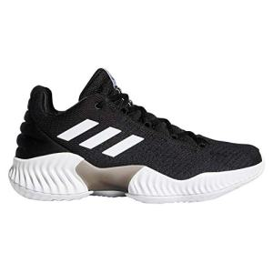 adidas Men's Pro Bounce 2018 Low Basketball Shoe, Black/White/Black
