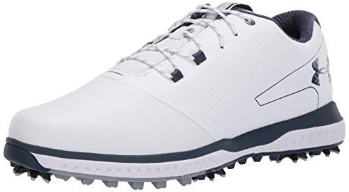 Under Armour Men's Fade RST II Golf Shoe, White (100)/Steel