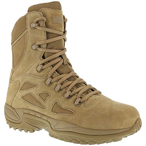 """Reebok Mens Rapid Response RB 8"""" Tactical Military Boot, Coyote"""