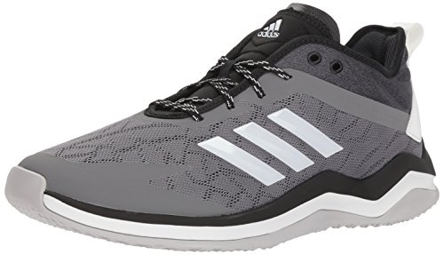 adidas Men's Speed Trainer 4 Baseball Shoe, Grey/Crystal White/Black